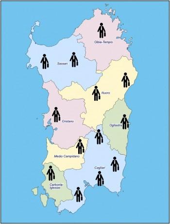 cartina agenti
